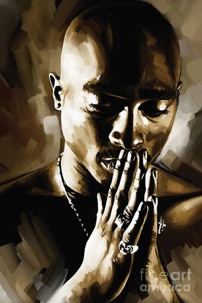 Hip Wall Art - Painting - Tupac Shakur Artwork  by Sheraz A