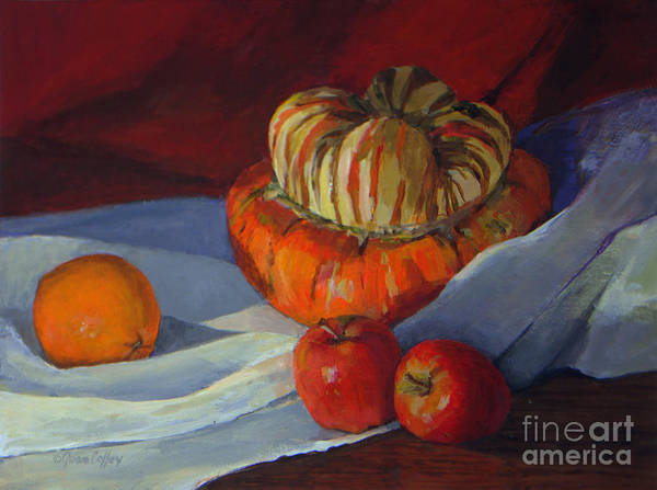 Painting - Turban Squash And Friends by Joan Coffey
