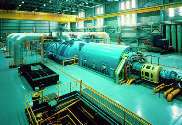 Generators Photograph - Turbine At Nuclear Power Station by Alex Bartel/science Photo Library
