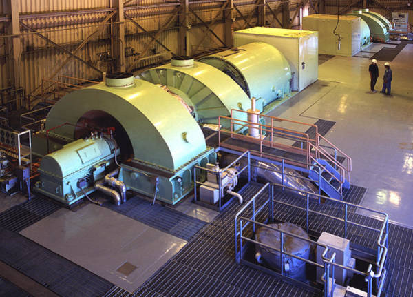 Energy Crisis Photograph - Turbine Room - Geothermal Power Plant by Theodore Clutter