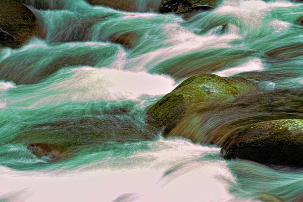 Photograph - Turbulence - Mountain Stream - Smoky Mountains by Barry Jones
