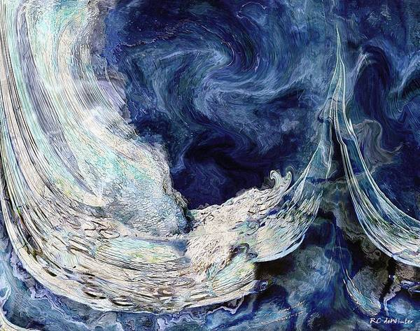 Painting - Turbulent Sea by RC DeWinter