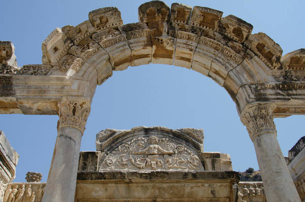 Ad Photograph - Turkey, Ephesus Temple Of Hadrian by Cindy Miller Hopkins