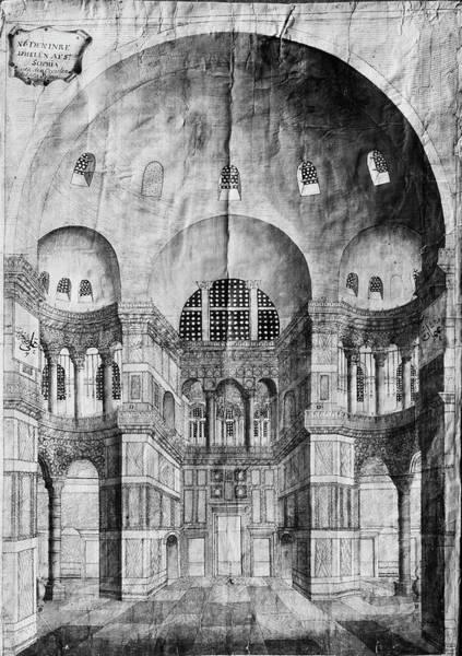 Wall Art - Drawing - Turkey Hagia Sophia, 1710 by Granger