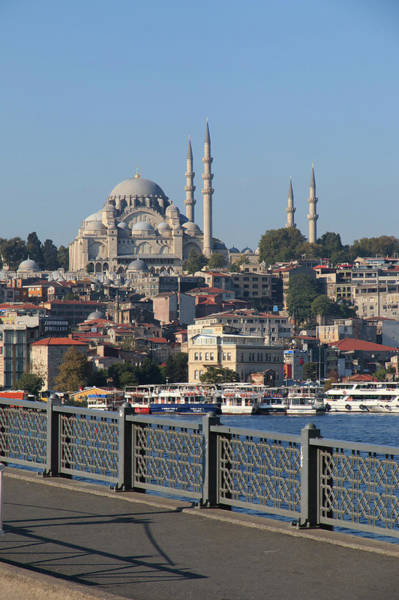 Galata Photograph - Turkey, Istanbul, Blue Mosque by Emily Wilson