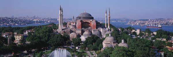 Minarets Photograph - Turkey, Istanbul, Hagia Sophia by Panoramic Images