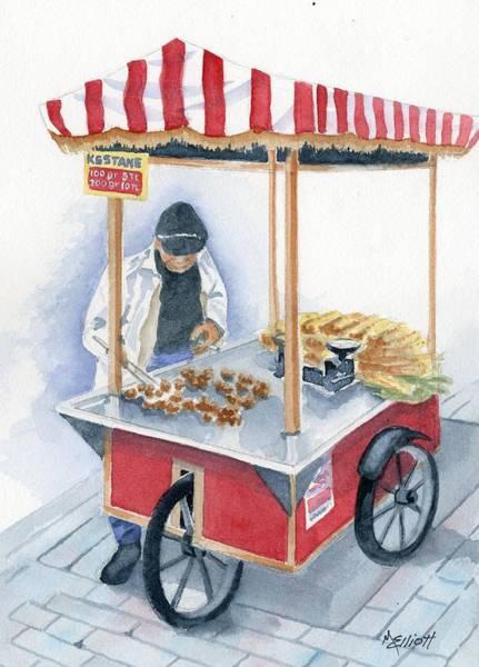 Istanbul Painting - Turkish Fast Food by Marsha Elliott