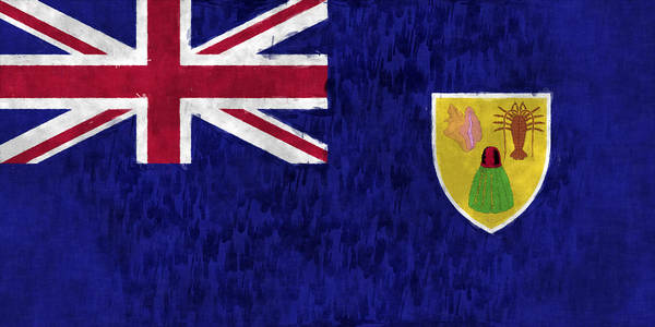 Wall Art - Digital Art - Turks And Caicos Islands Flag by World Art Prints And Designs