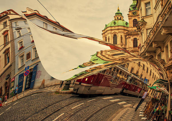 Photograph - Turn The Page Of Past Day. Prague Streets by Jenny Rainbow