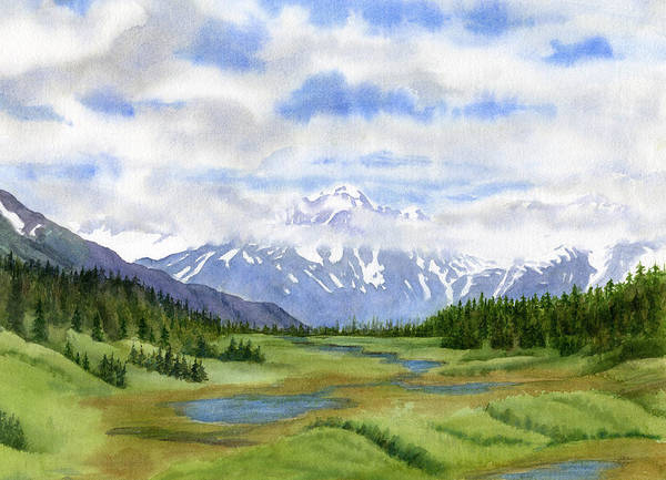 Freeman Wall Art - Painting - Turnagain Pass Mountain View by Sharon Freeman