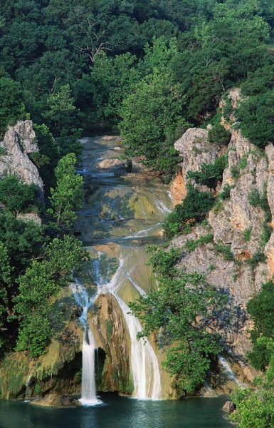 Shadow Photograph - Turner Falls, Arbuckle Mountains by John Elk