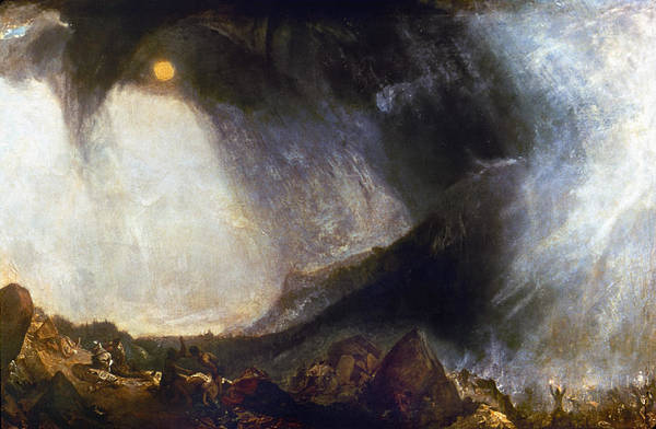 Wall Art - Painting - Snow Storm - Hannibal Crossing The Alps by Turner