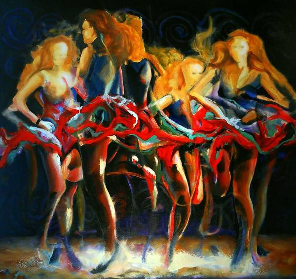 Irish Dance Painting - Turning by Georg Douglas