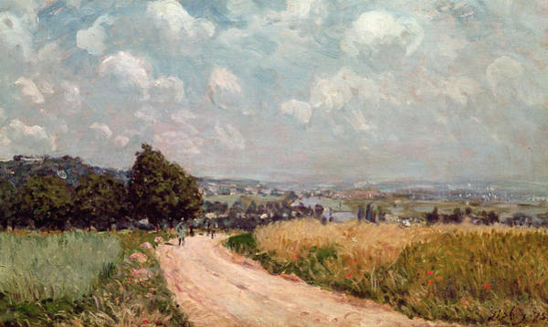 Turning Painting - Turning Road by Alfred Sisley