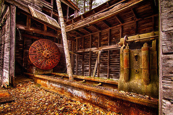 Photograph - Turning Shed Redstone Quarry Conway Nh by Jeff Sinon