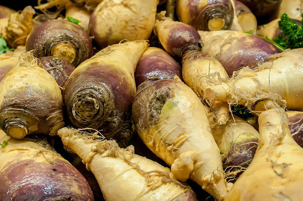 Photograph - Turnip On Display At Farmers Market by Alex Grichenko