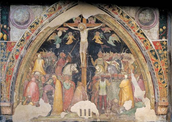 Wall Art - Photograph - Turone, The Crucifixion, 14th Century by Everett