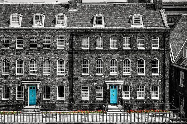 Photograph - Turquoise Doors At Tower Of London's Old Hospital Block by James Udall