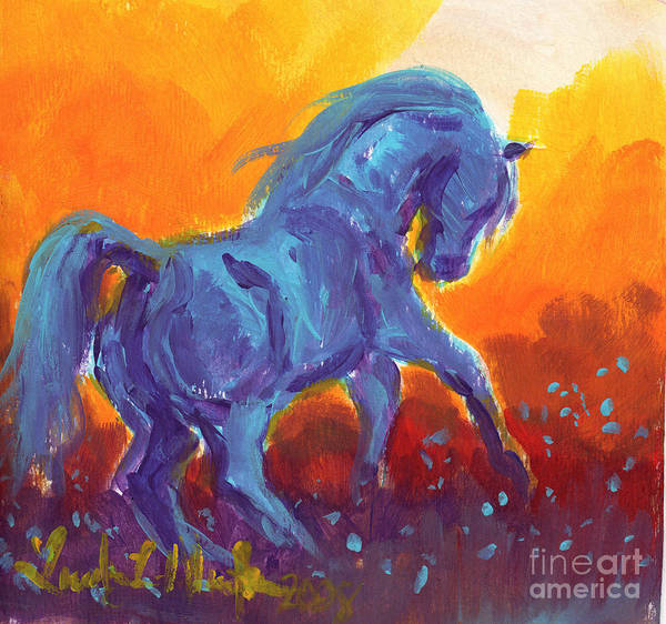 Painting - Turquois Stallion by Linda L Martin