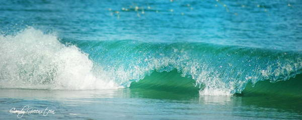 Photograph - Turquois Waves  by Cindy Greenstein