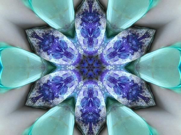 Digital Art - Turquoise Amethyst Star Mandala by Diane Lynn Hix