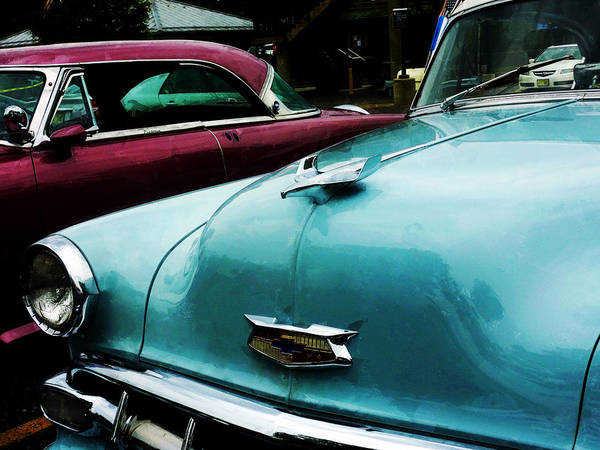 Photograph - Turquoise Bel Air by Susan Savad