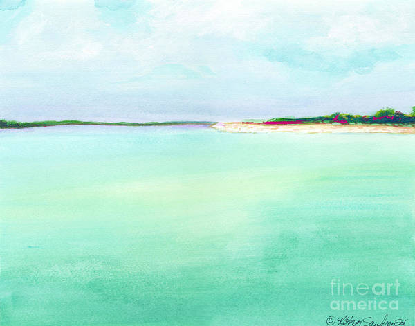 Painting - Turquoise Caribbean Beach Horizontal by Robyn Saunders