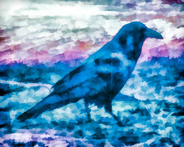 Mixed Media - Turquoise Crow by Priya Ghose