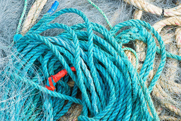 Photograph - Turquoise Marine Rope by Matthias Hauser