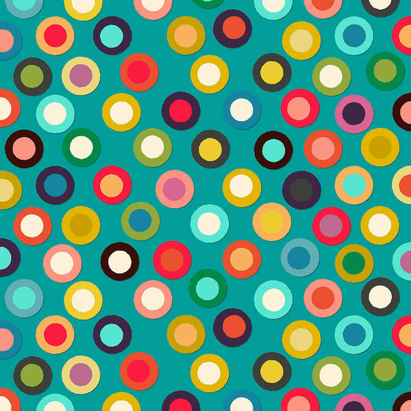 Colours Drawing - Turquoise Pop Spot by MGL Meiklejohn Graphics Licensing