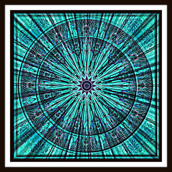 Digital Art - Turquoise Rays by Charmaine Zoe