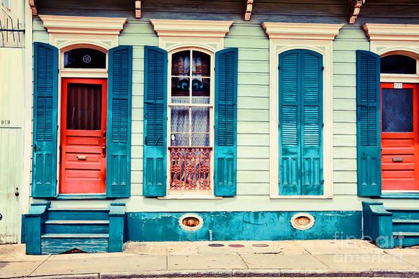 Nola Photograph - Turquoise Shutters by Sylvia Cook