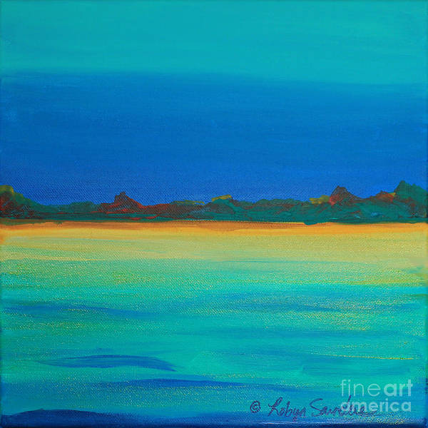 Painting - Turquoise Waters Land Ahead by Robyn Saunders
