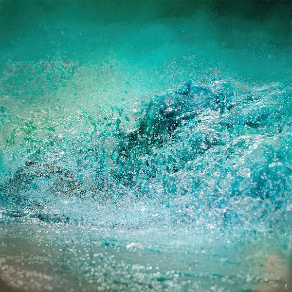 Photograph - Turquoise Wave - Blue Water Scene by Jai Johnson