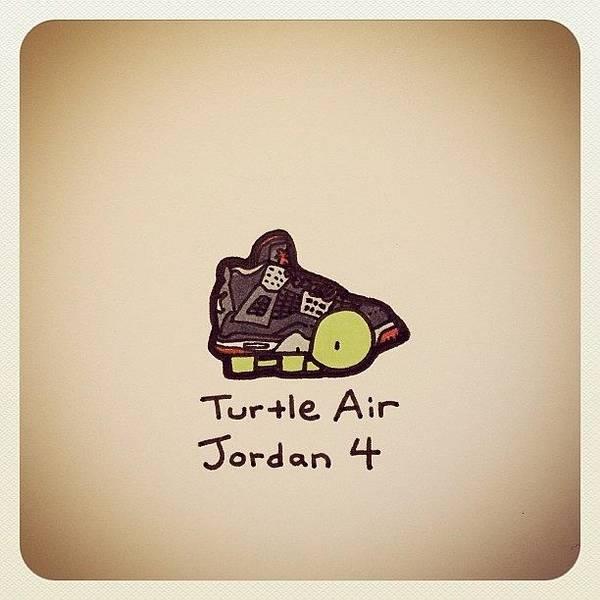 Reptiles Wall Art - Photograph - Turtle Air Jordan 4 by Turtle Wayne