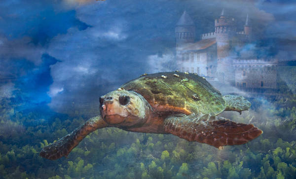 Turtle In Atlantis Art Print
