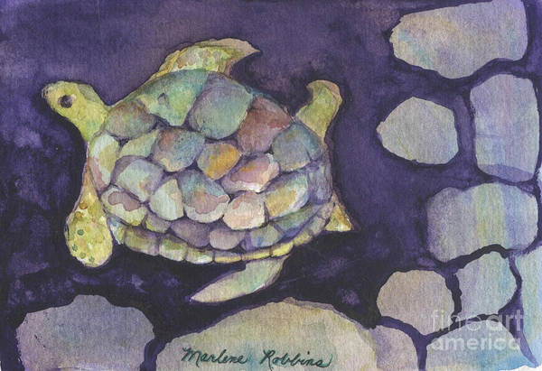 Painting - Turtle by Marlene Robbins