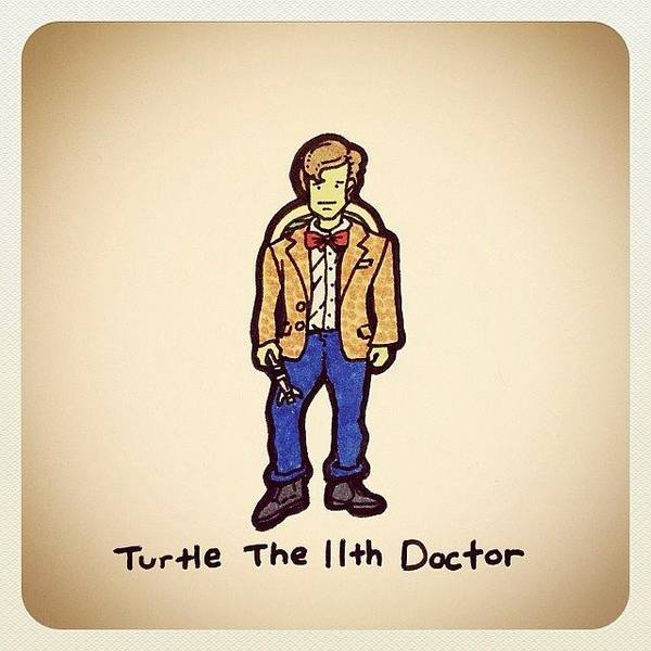 Reptiles Wall Art - Photograph - Turtle The 11th Doctor by Turtle Wayne