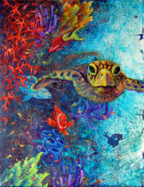 Clownfish Painting - Turtle Wall 2 by Ashley Kujan