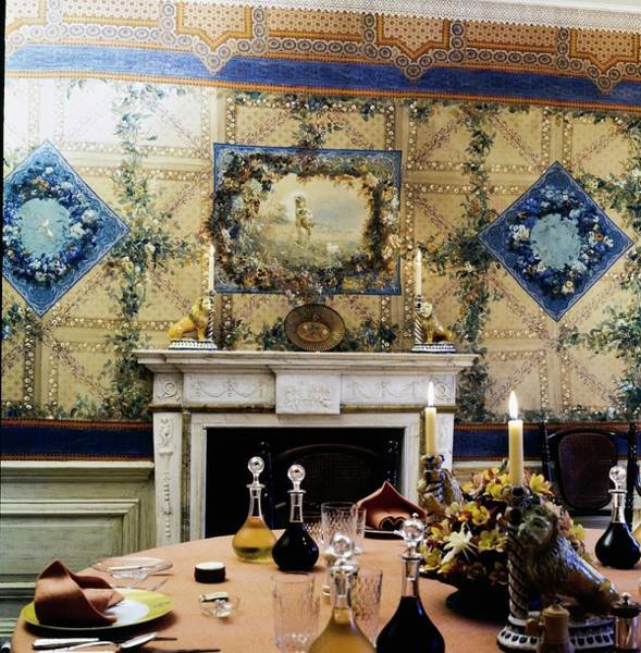 Country House Photograph - Turville Grange Dining Room by Horst P. Horst