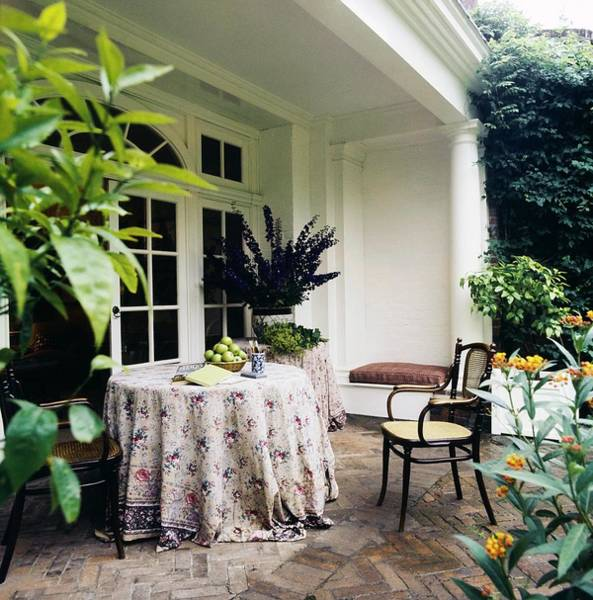 Country House Photograph - Turville Grange Patio by Horst P. Horst