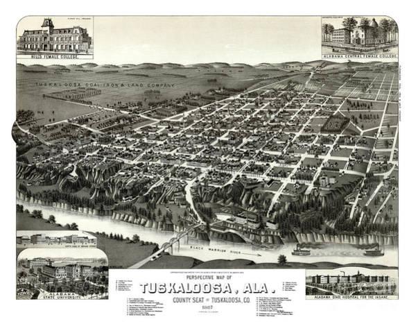 Alabama Painting - Tuscaloosa - Alabama - 1887 by Pablo Romero