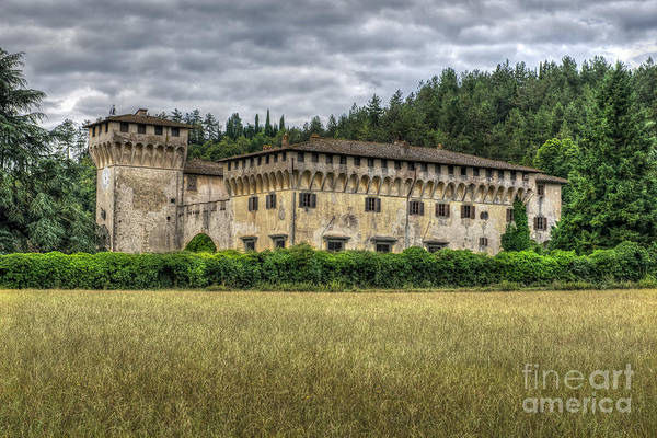Digital Art - Tuscan Castle 1 by Mauro Celotti