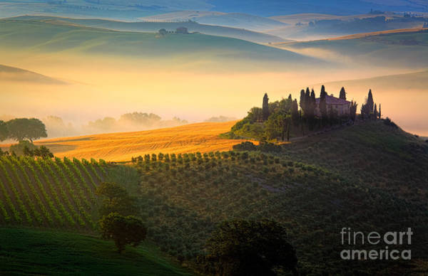 Italy Photograph - Tuscan Dawn by Inge Johnsson
