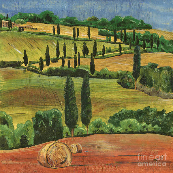 Hills Wall Art - Painting - Tuscan Dream 1 by Debbie DeWitt