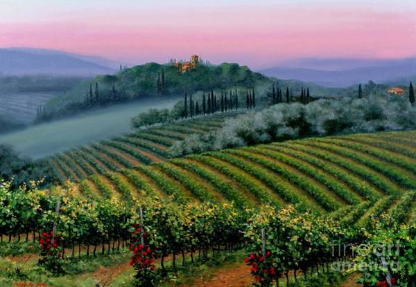 Wall Art - Painting - Tuscan Dusk by Michael Swanson
