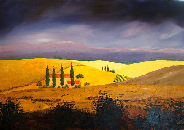 Painting - Tuscan Hill Country by William Renzulli