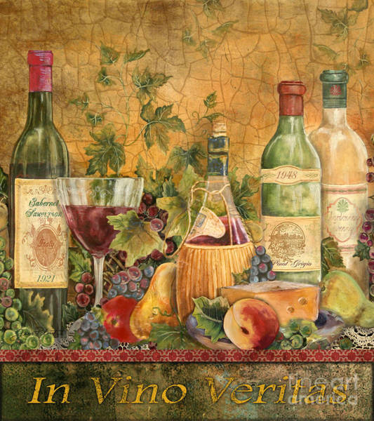 Vino Painting - Tuscan In Vino Veritas by Jean Plout