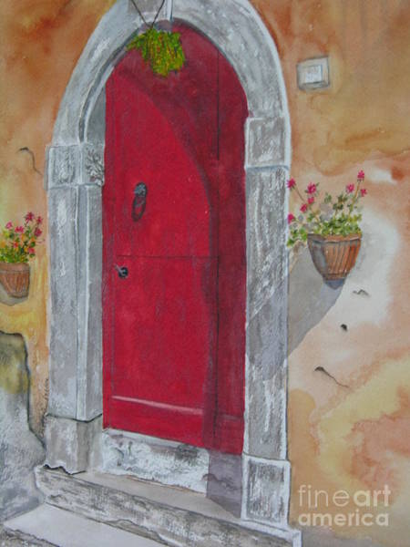 Painting - Tuscan Red Door by Peggy Dickerson