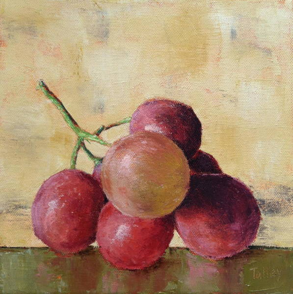 Wall Art - Painting - Tuscan Red Globe Grapes by Pam Talley